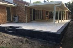 National masonry link block retaining wall, Boral pavers