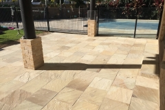 Paved sandstone courtyard
