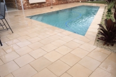 Pavescape-Landscapes- Paved pool area